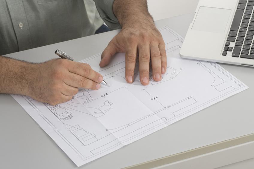 Technische Zeichnung - Logo-Plan